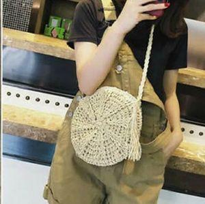 Handbags - Boho Round Woven Crossbody Bag